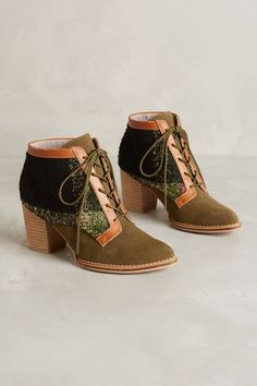 lace up booties - from anthropologie
