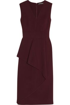 Burgundy stretch-crepe Concealed hook and zip fastening at back 57% rayon, 39% wool, 4% elastane; lining: 75% acetate, 25% silk Dry clean Designer color: Bordeaux