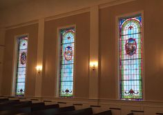 Stained Glass Windows at Providence Baptist Church in Shawboro, NC