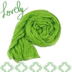 """NEW Lightweight Sheer Crinkle Scarf in Kelly Green Brand new. Soft and lightweight, thin sheer material, polyester/cotton blend. Can be worn as a scarf or used as a shawl. Measures about 70""""x24"""". Great for any time of the year. Other colors available, listed separately. Bundle a few to mix and match colors for a fun, unique look! *color best shown in first and second photos* NO TRADES Accessories Scarves & Wraps"""