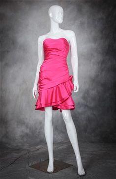 Ruching Slinky Flounces Cocktail Dress