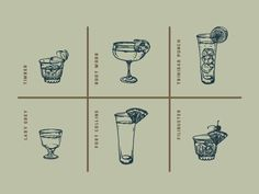 a peek at pieces coming together for Retreat's drink menu. I commissioned illustrator Noah MacMillan—from here in St. Louis—to draw all the glassware and garnishes, ice, etc. separately and I've be...
