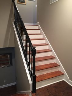 Best Red Oak Stair Treads With Red Oak Iron Stair System 640 x 480