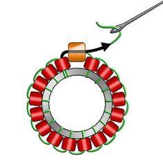 Materials: Miyuki Triangle Matte Silverlined Cobalt - 1 tube T Seed Bead Jewelry, Bead Jewellery, Seed Bead Earrings, Beaded Earrings, Beaded Bracelets, Seed Bead Patterns, Beaded Bracelet Patterns, Brick Stitch Earrings, Bracelet Crafts