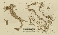 Le api scatenate di Emilio Isgrò, a Lipari.
