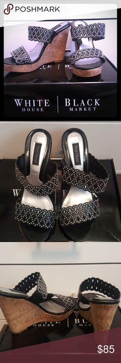 Gorgeous WHBM wedge Gorgeous White House Black Market wedges  Worn once Love them, but just can't wear heels anymore White House Black Market Shoes