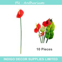 Find More Decorative Flowers & Wreaths Information about 10pcs/lot Red Anthurium   Latex Calla Real Touch Wedding Display Flower Calla Artificial Flower Home Decorative Flower Wholesale,High Quality flowers drops,China flower sapphire Suppliers, Cheap flower top from Indigo Decor Supplies Limited on Aliexpress.com
