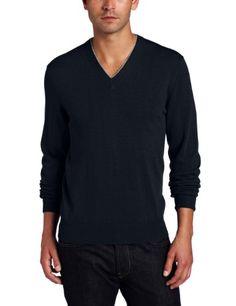 Michael Kors Men`s Tipped Merino V-Neck Michael Kors Men, Men Sweater, V Neck, Long Sleeve, Tips, Sleeves, Sweaters, Mens Tops, T Shirt