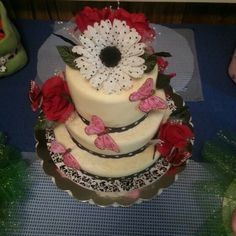 White chocolate cake made for baby shower