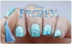 """Crystallized Ice Nails 