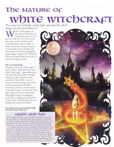 Book of Shadows:  BOS The Nature of White Witchcraft page.