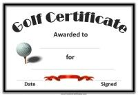 Free Printable Golf Certificates, Golf Awards, Golf