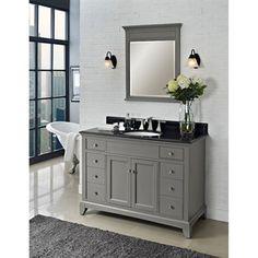 "Buy Fairmont Designs 48"" Smithfield Vanity - Medium Gray at ModernBathroom.com. Get free shipping and factory-direct savings on Fairmont Designs 48"" Smithfield Vanity - Medium Gray."