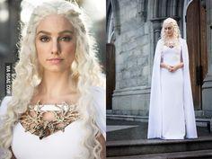 Homemade Daenerys Targaryen costume - 9GAG