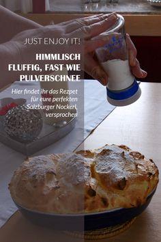 Hier findet ihr das Rezept für eure perfekten Salzburger Nockerl, versprochen Bread, Food, Souffle Dish, Food Portions, Homemade, Recipies, Brot, Essen, Baking