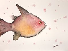 Watercolor, fish