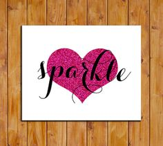 Sparkle Printable Art Print Pink Glitter Art by dodidoodles, $5.00