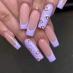 Acrylic Nails Coffin Pink, Long Square Acrylic Nails, Stylish Nails, Trendy Nails, Cute Gel Nails, Lavender Nails, Nagellack Design, Fire Nails, Minimalist Nails
