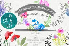 My amazing floral pack 50% off - Illustrations - 1