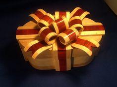 Ribbon bandsaw box by Highlandboxes on Etsy, £59.00