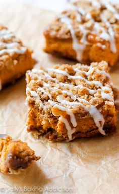 Pumpkin Streusel Bars Recipe on Yummly. @yummly #recipe
