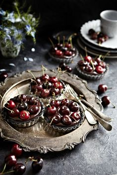 No-Bake Oreo Chocolate Cherry Tarts (could be made with a similar cookie, one that you don't have to take the filling out of)