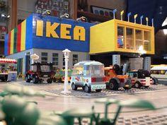 Lego IKEA :: My LEGO creations. Welcome to the newest IKEA store! IKEA for Lego-fans, to be precise. Lego Minecraft, Lego Moc, Minifigura Lego, Lego Batman, Minecraft Skins, Minecraft Buildings, Legos, Lego Technic, Lego Hacks