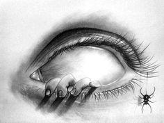 Creepy Sketches, Demon Drawings, Creepy Drawings, Dark Art Drawings, Art Drawings Sketches Simple, Pencil Art Drawings, Scary Halloween Drawings, Drawings Of Eyes, Creepy Halloween