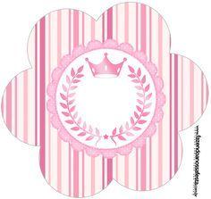 Topper Flor Coroa de Princesa Rosa Floral