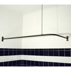 """Need this for my corner tub.   Extra Heavy Whittington Corner Shower Curtain Rod - 60"""" x 30"""" w/36"""" Ceiling Support"""