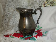 Silver Water  Pitcher Needs to Be Polished by Daysgonebytreasures
