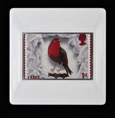 This brooch composition brings the traditional and the contemporary together making this a striking Christmas accessory for any outfit. This postage stamp was part of a collection issued to celebrate 50 years of the Royal Mail Christmas postage stamps. They illustrated some of the most popular festive traditions. The images on the stamps were crafted by Manchester-based, illustrator, Helen Musselwhite. For the stamps Helen created intricate paper sculptures which were then photographed. Helen Musselwhite, Royal Mail Postage, Paper Sculptures, Christmas Accessories, Postage Stamps, Brooches, Manchester, Illustrator, Festive