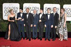 ALL the boys: LaLa Land's Olivia Hamilton, director Damien Chazelle, musician John Legend,. Best Director, Film Director, Golden Globe Awards 2017, Justin Gabriel, Damien Chazelle, John Legend, Ex Wives, Executive Producer, Golden Globes