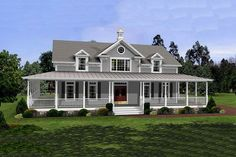 Farmhouse Style House Plan - 3 Beds 2.5 Baths 2098 Sq/Ft Plan #56-238 Exterior - Front Elevation - Houseplans.com  http://www.houseplans.com/plan/2098-square-feet-3-bedrooms-2-5-bathroom-country-house-plans-3-garage-22382