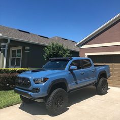 """Toyocars Customs on Instagram: """"'18 Taco TRD Pro Cavalry Blue @bdssuspensions 6"""" coilover suspension @nittotire trail grapplers 35x12.5 with trd 17"""" rims @rigidindustries…"""""""