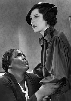 Imitation of Life:  Fredi Washington was the young actress who played a nineteen-year-old Peola Johnson (Sarah Jane Johnson in the '59 version.) They approached her to play the older version of Sarah Jane in the 1959 remake but she declined because she didn't want to only be known as the black actress who was always passing for white. Washington, whose parents were both biracial, had very fair skin and green eyes but she was adamant about the fact that she identified as black.