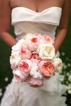 LOVE peonies, especially pink and white together.