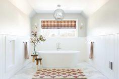 12 Tips To Make A Spec Home, Special...With Max Humphrey - Emily Henderson #homedesign #homeimprovement #interiors #homehacks Bathroom Trends, Diy Bathroom Decor, Bathroom Colors, Bathroom Interior, Bathroom Ideas, Colorful Bathroom, Bathroom Goals, Bathroom Designs, Home Design