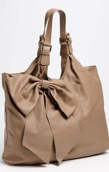 RED Valentino Valentino Red Large Bow Caramel Tote Bag