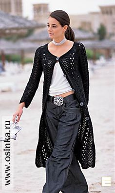 Beautiful inspiration for a crochet long coat... Doris Chan's Sambuca Jacket, done long?