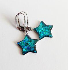 Tyrkysové  hvězdy z  chirurgické oceli