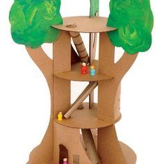 Cardboard tree house
