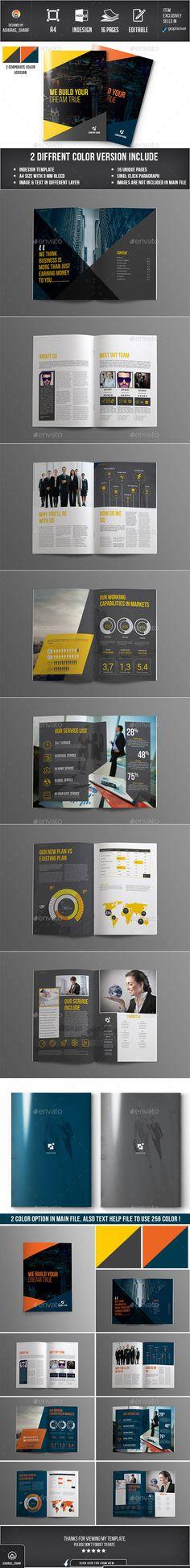 Corporate Brochure Template #design Download: http://graphicriver.net/item/corporate-brochure-template/12189182?ref=ksioks