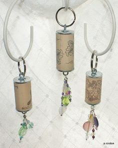 Wine cork key holders!  (thinking boat keys with other charms:)