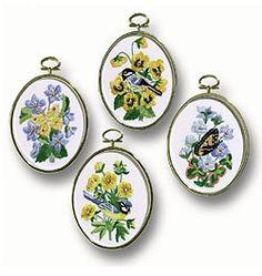 Birds  Butterflies Embroidery 004-0753