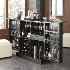 Steamer Bar Cabinet  | Crate and Barrel