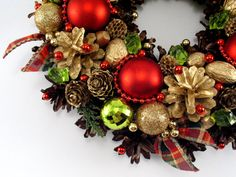 Christmas Wreath Winter Decorations Pinecone by ZielonePalce