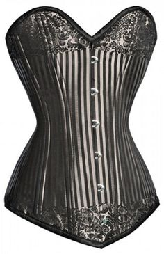 Check out this item on The Violet Vixen Platinum Classic Silver-Black Corset #thevioletvixen