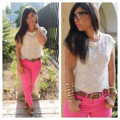 #pink #lace  www.eglamstyle.com