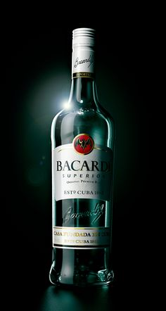 Bacardi bottle by Peek Creative Studios , via Behance Bacardi Drinks, Bacardi Rum, Cocktail Drinks, Whiskey Drinks, Cocktails, Alcohol Bottles, Drink Bottles, Alcoholic Drinks Pictures, Luxury Cars